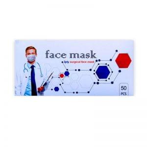 ماسک پزشکی سه لایه کشی بند پرسی ملت دار
