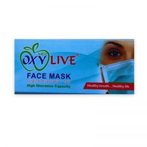 ماسک سه لایه جراحی oxy live ( 50 عددی)
