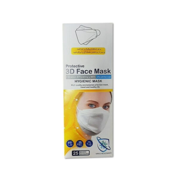 ماسک سه بعدی 5 لایه KF94 بسته 25 عددی